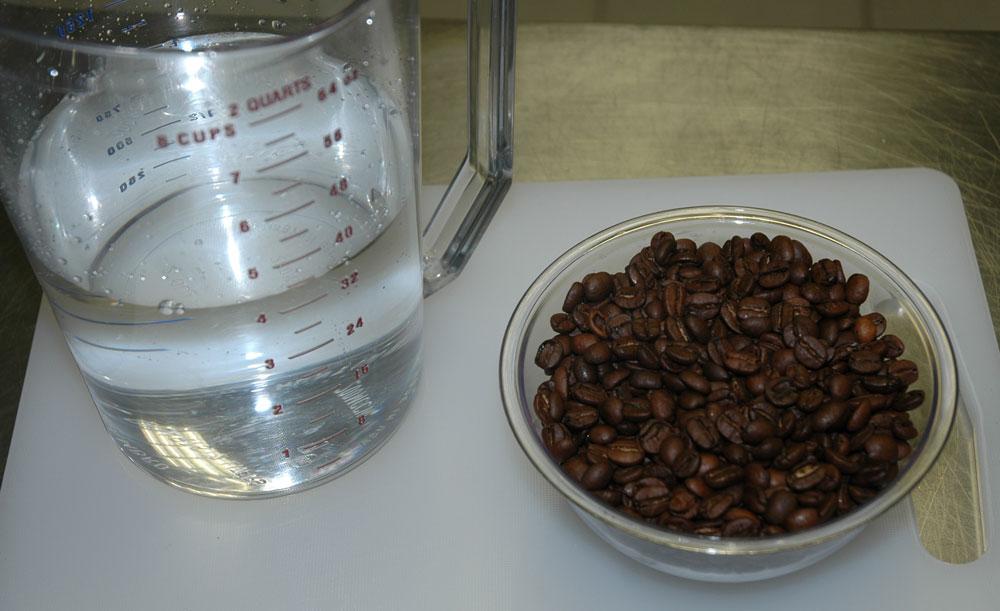 Medidas de agua y café