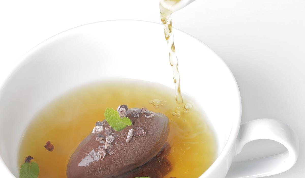 Helado de chocolate, infusión de menta y regaliz, Jordi Guillem