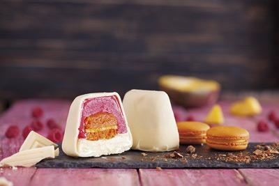 Tarta Individual con Macaron