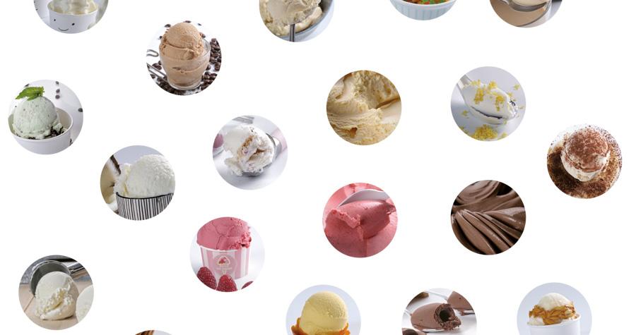 Diferentes sabores de helado
