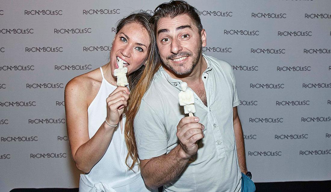 Jordi Roca y su mujer Ale Rivas, con el nuevo polo, Velencoco.