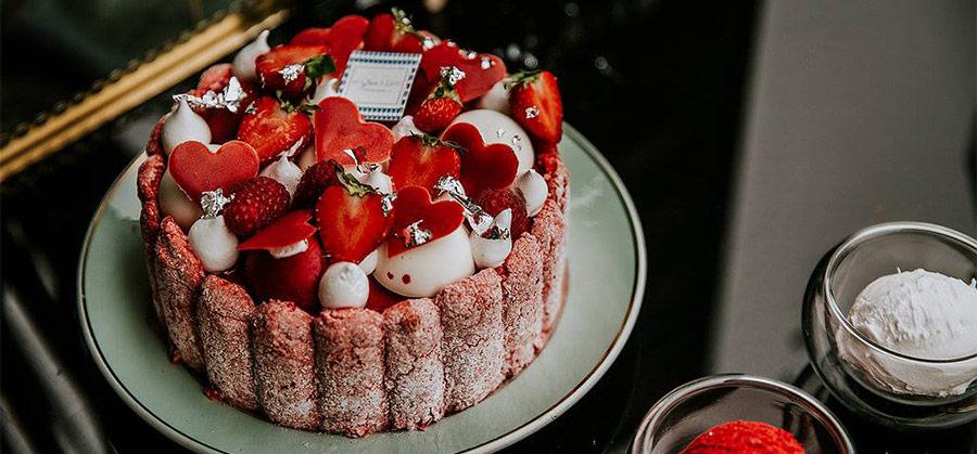 charlotte helado de frutos rojos